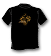 Tee gold on Black